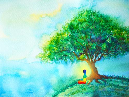 medytacja pod drzewem