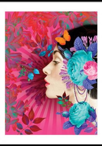 Plakat Kwietna milonga 2 30x40 cm