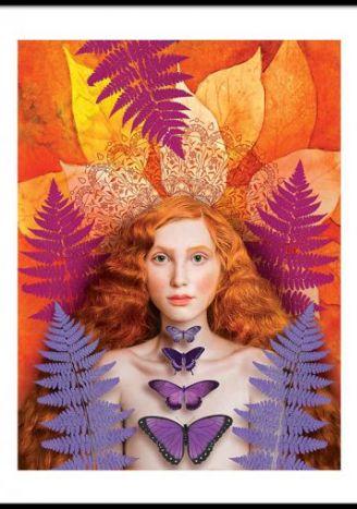 Plakat Jesienna dama 30x40 cm