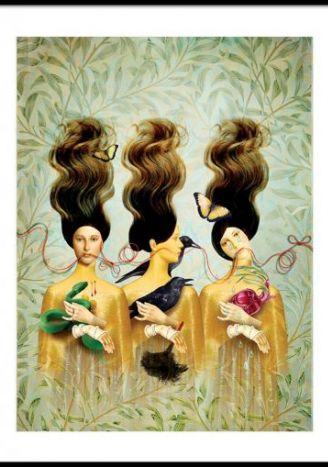 Plakat Trzy boginie 30x40 cm