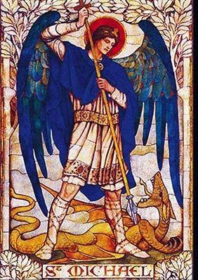 archanioł Michał włada żywiołem ognia