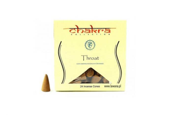 Kadzidła stożkowe THROAT na 5 czakrę 24 sztuki Chakra Collection Chakra Collection