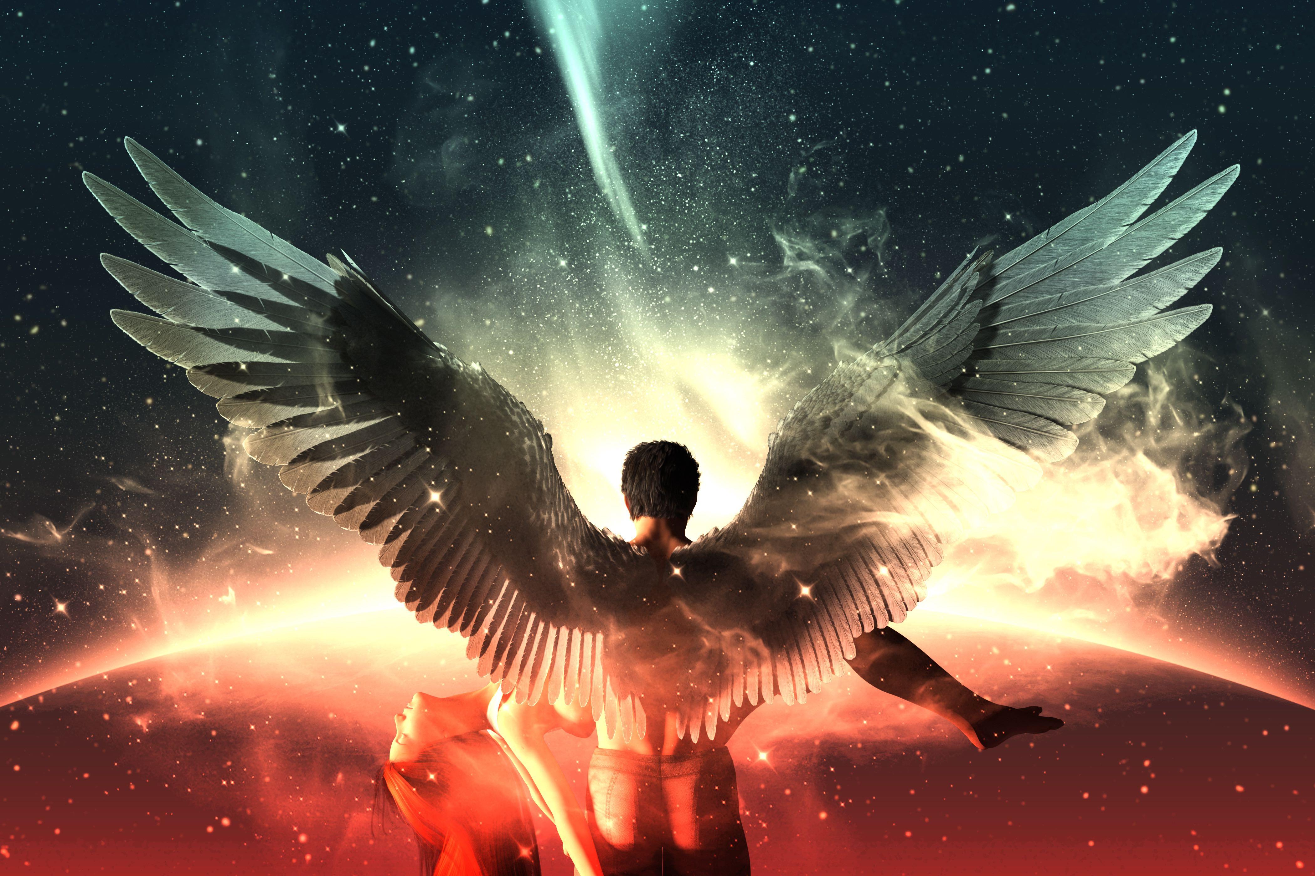 anioł, asmodel, anioł na kwiecień