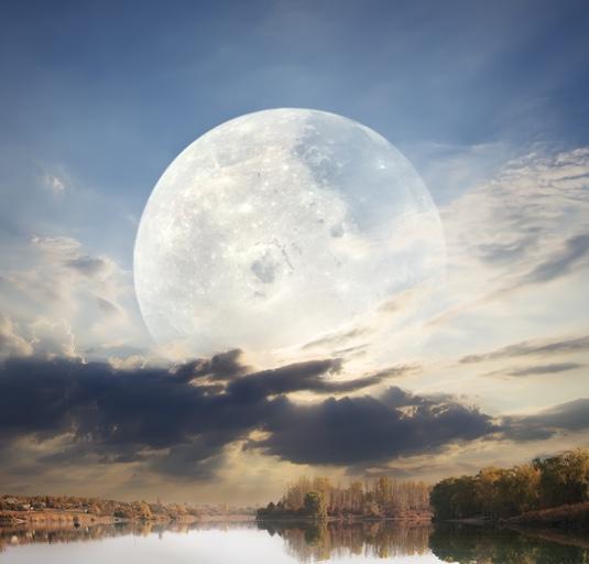 pełnia, księżyc