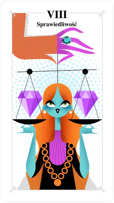karta sprawiedliwość, tarot