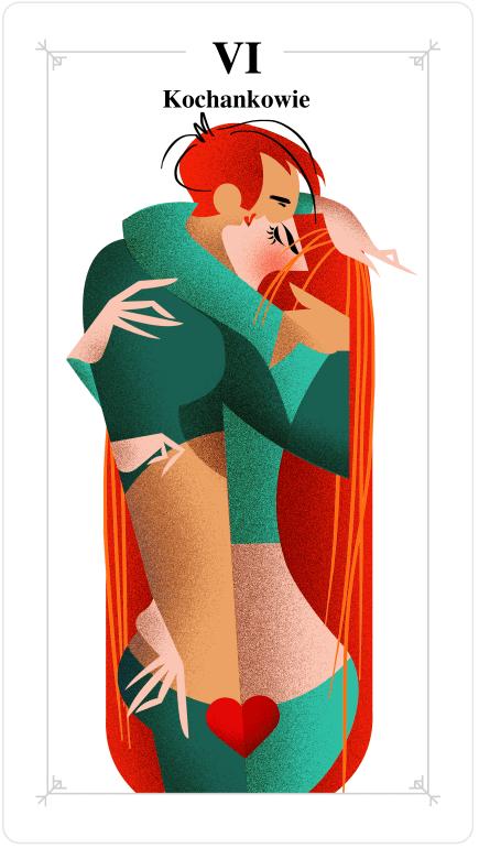 tarot tygodniowy, kochankowie