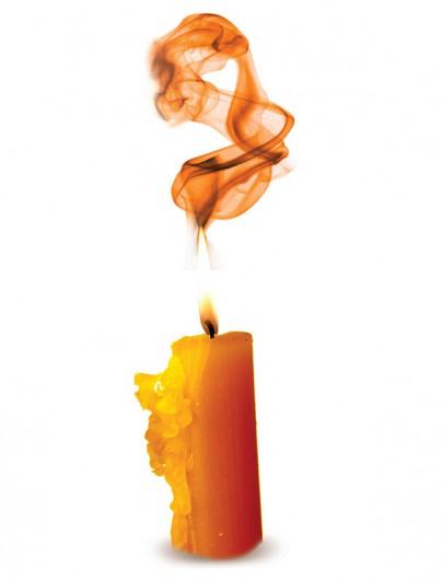 Co oznacza kierunek dymu ze świecy