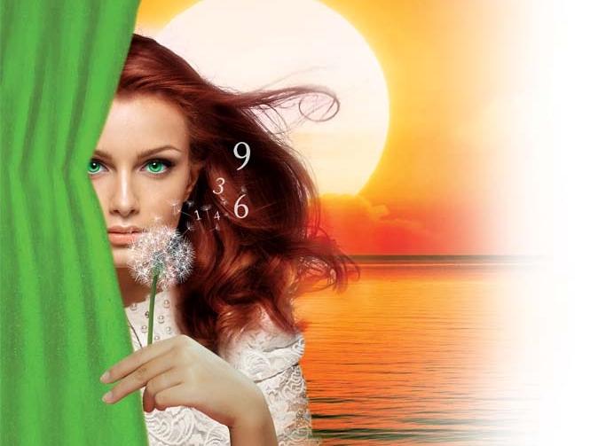 dziewczyna, słońce, liczby, numerologia