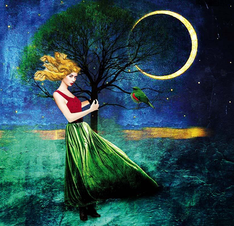dziewczyna tuli drzewo