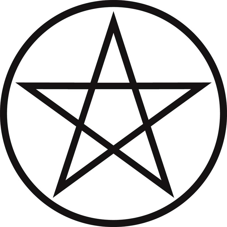 Rytuał ochronny z pentagramem