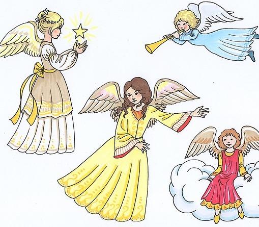 anioły, dom, anioły i rodzina