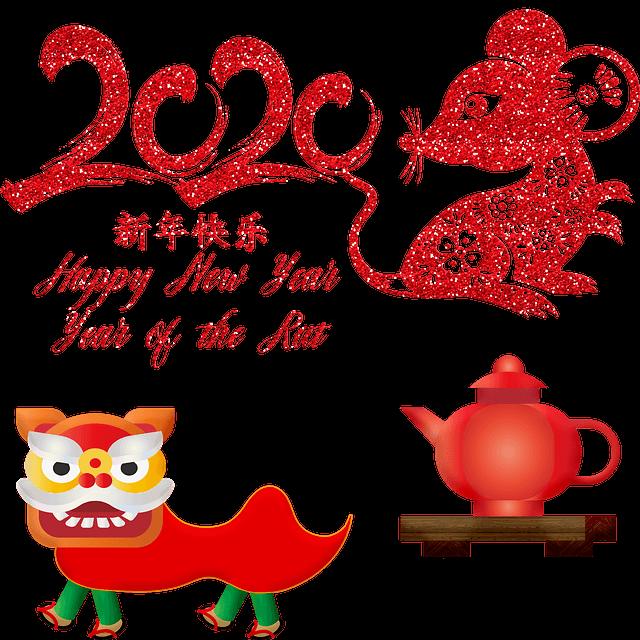 szczur, chiński nowy rok, smok, czajnik