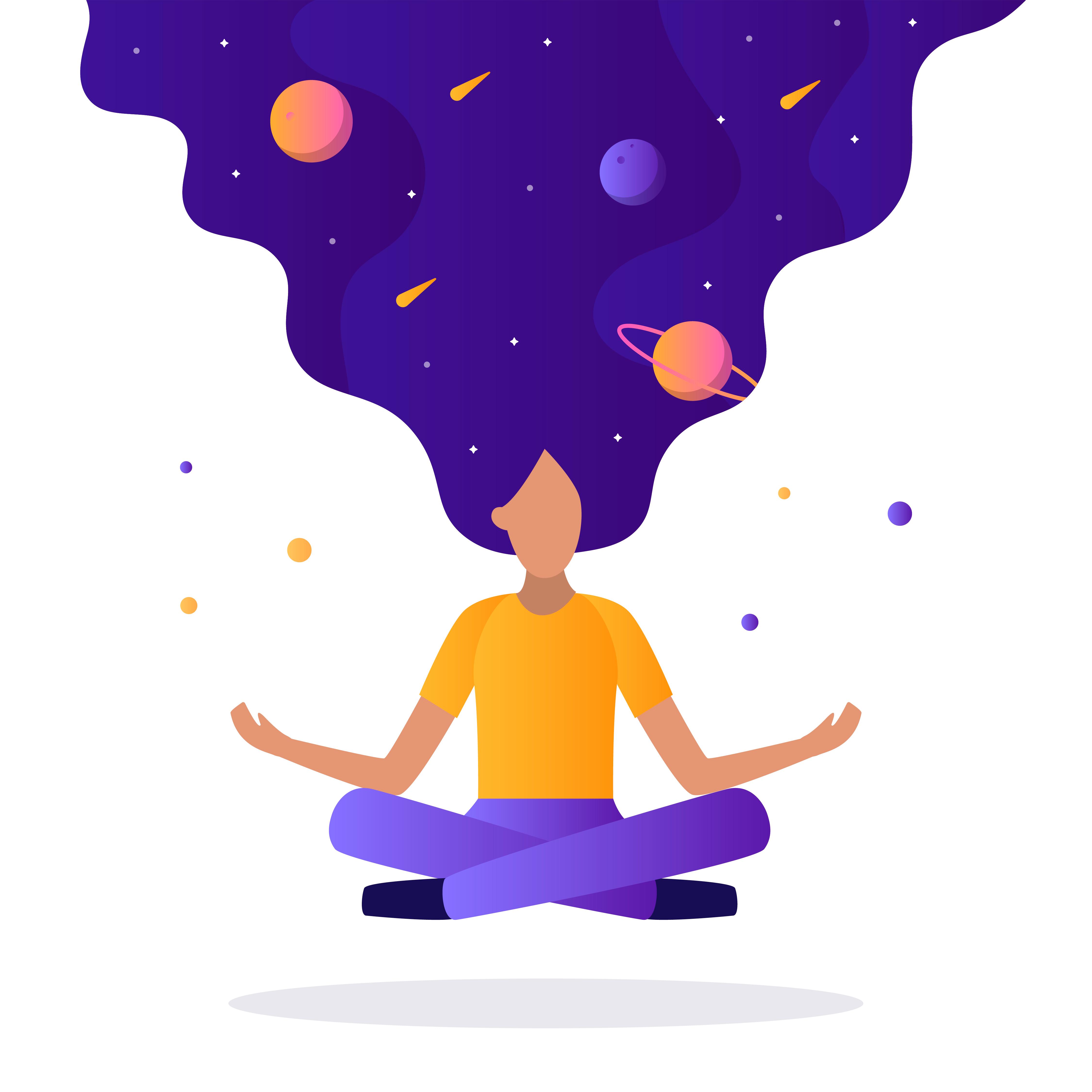mudra, kobieta medytuje