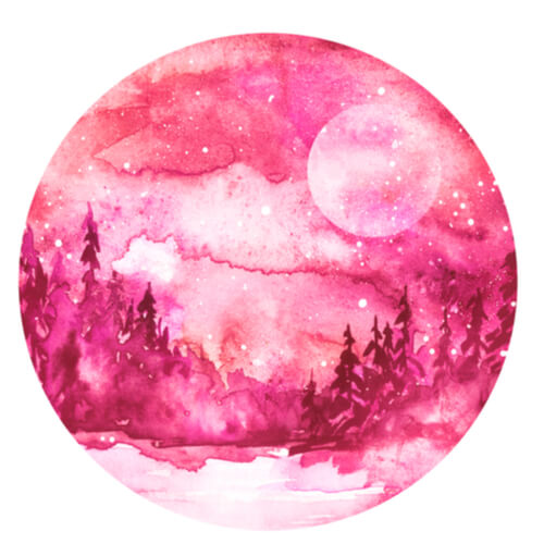 różowy księżyc
