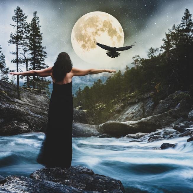 pełnia księżyca w rybach, kobieta