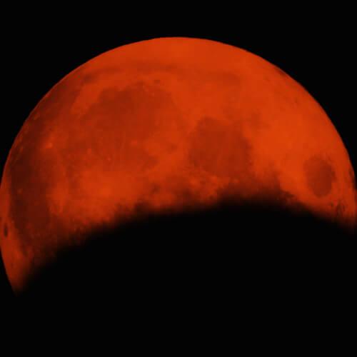 zaćmienie księżyca, księżyc, półcieniowe zaćmienie księżyca