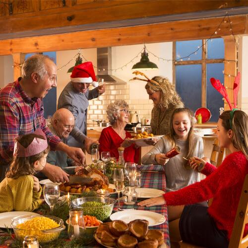święta, rodzina, stół wigilijny