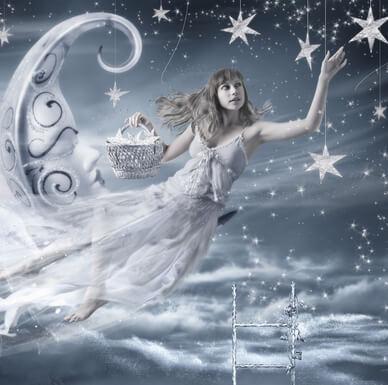 księżyc, kobieta