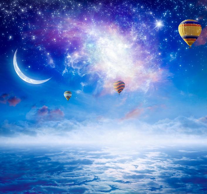 nów Księżyca, niebo