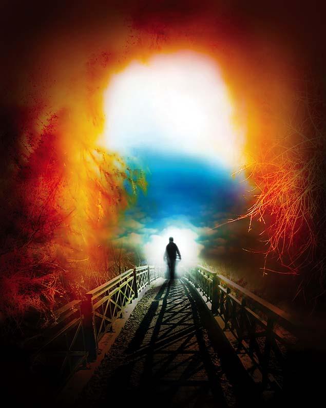 człowiek, dusza, most, wędrówka