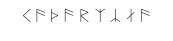Runiczny zapis imienia Katarzyna